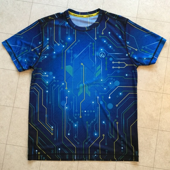 "4aedeebf9f7f13 INKnBURN Other - INKnBURN Men s Tech Shirt - ""Circuit"" - Size XL"